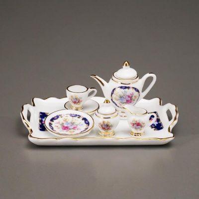 Tea Set on Silver Tray (Royal)