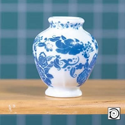 Delft Style Ceramic Vase