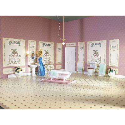 'Gold' Fleur Bathroom Suite, 4pcs