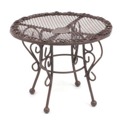 Brown Metal Garden Table
