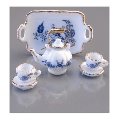 Tea Set Blue/Gold