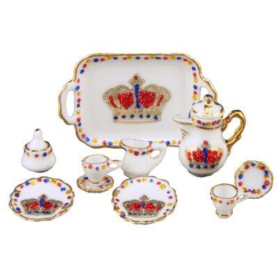 Coffee Set Gold Crown