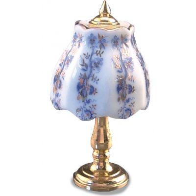Lamp. Blue/Gold