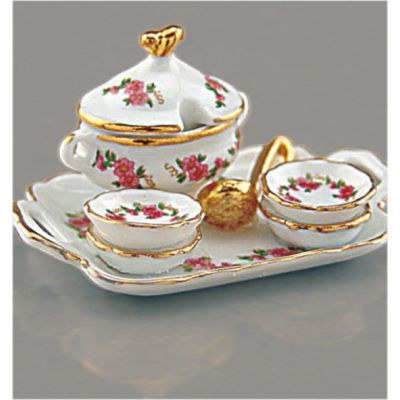 Tray With Soup Tureen - Lisa