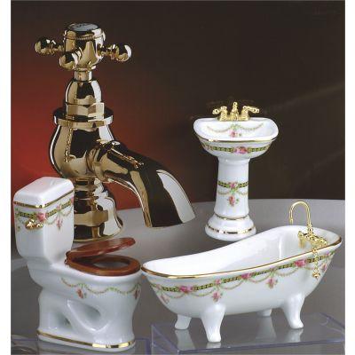 Bathroom 3pc. Low Flush. Victorian Rose