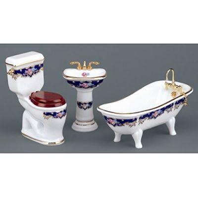 Bath 3pc. High Flush. Royal Blue