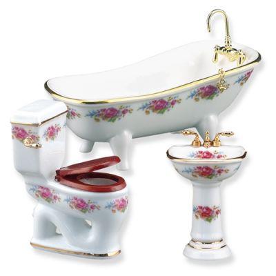 Bathroom 3pc Low Flush (Dresden Rose)