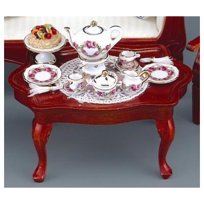 Table with Rosegarden Teaset