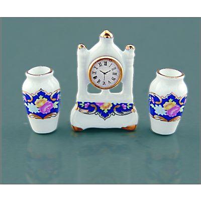 Clock & Vases