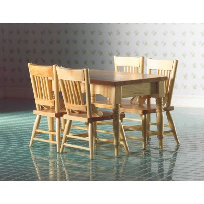 Kitchen Table & Four Chairs (L)