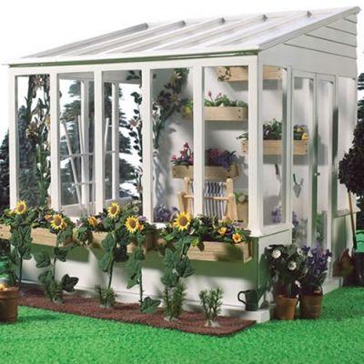 Greenhouse Conservatory,unpainted (no glue)
