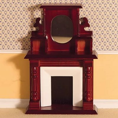 Victorian Fireplace with Overmantel