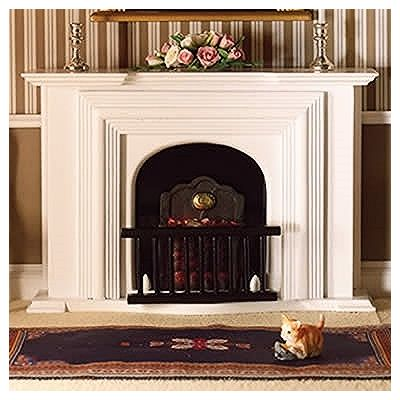 White Georgian Fireplace