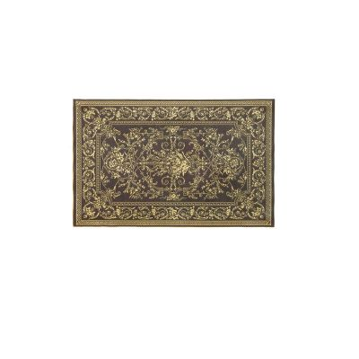 'Georgian' Ebony & 'Gold' Rug