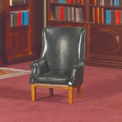 Green 'Leather' Porter's Chair