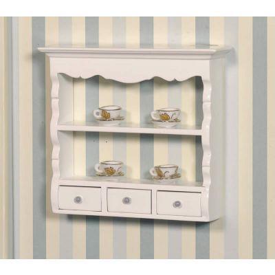 White Wall Shelf Unit
