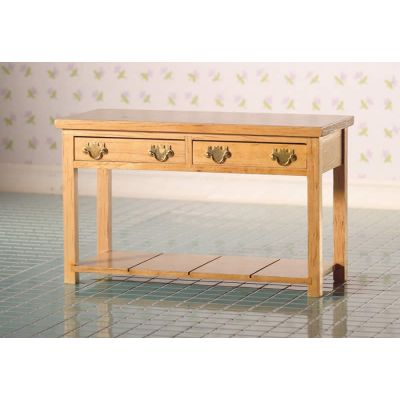 Victorian Kitchen Side Table (L)