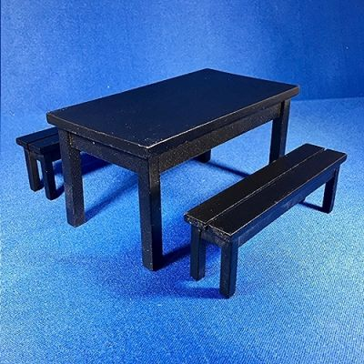 Black Table & Two Benches