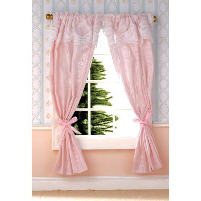 Pale Pink Curtains on Rail