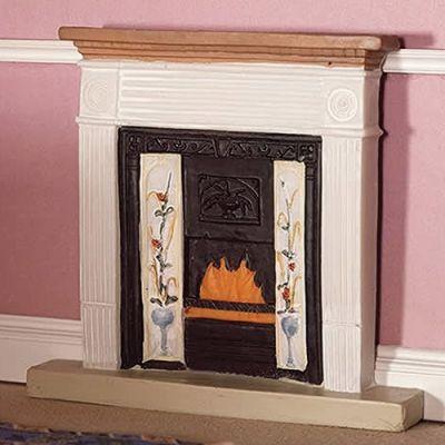 White Victorian Fireplace (PR)