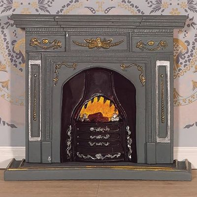 Large Grey/'Gold' Fireplace (PR)