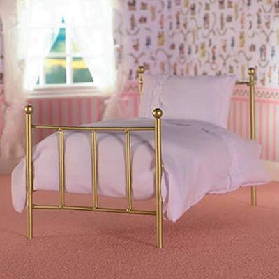 'Brass' Single Bed & Mattress