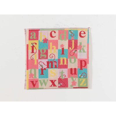 Pink Alphabet Blanket/Rug