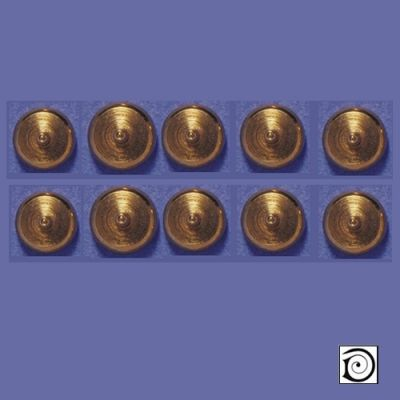 'Brass' Light Switches, 10 pcs 5mm Dia (Non-Working)