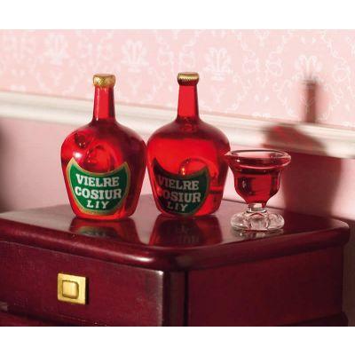 Liqueur Bottles, 2 pcs