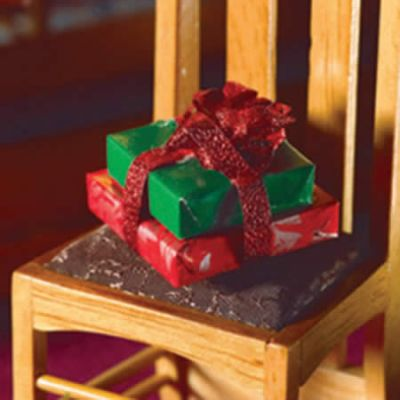 Two Presents with Red Bow