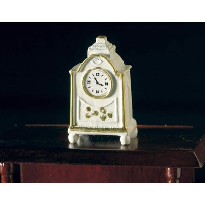 White Clock with 'Gold' Edging