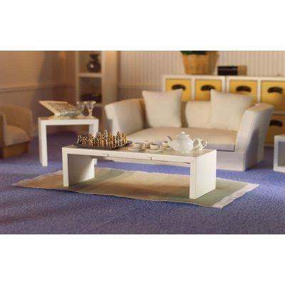Modern White Low Table/Shelf