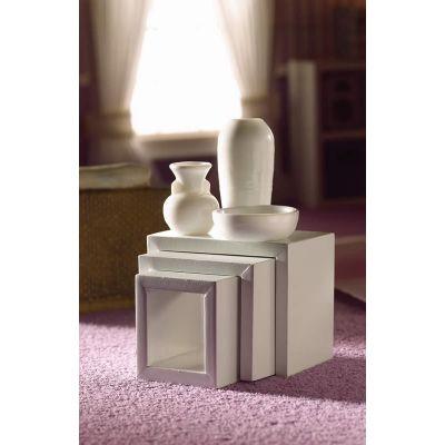 Modern White Nest of Tables