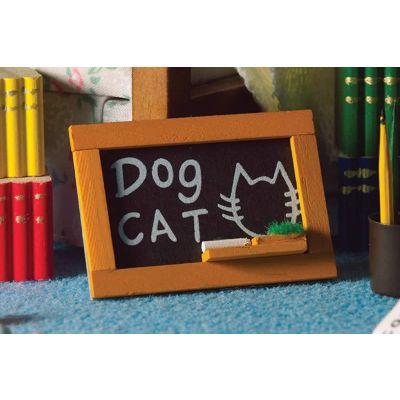 Blackboard with Chalks