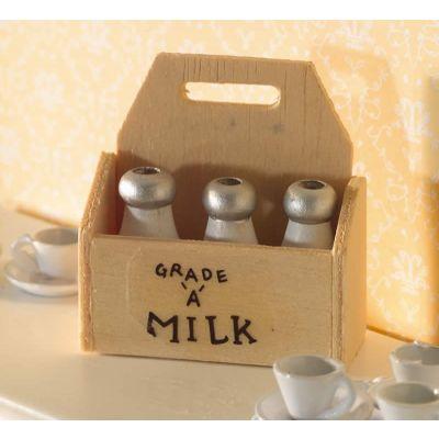 Wooden Crate & Milk