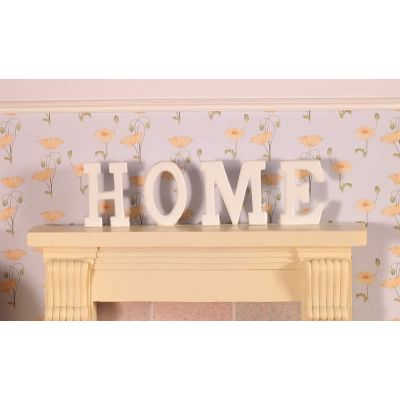 'HOME' Letters in wood, 4 pcs