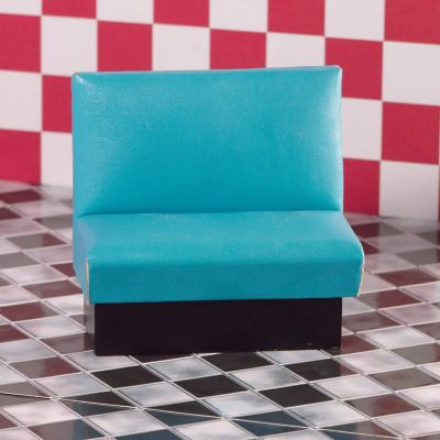 Turquoise Diner Seat/Bench