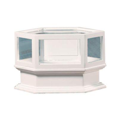 White Shop Corner Counter Unit