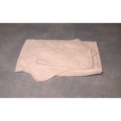 White Fluffy Towel Set, 3 pcs