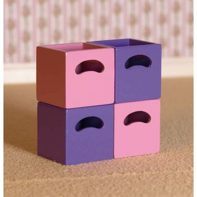 Rose & Lilac Storage Boxes, 4 pcs