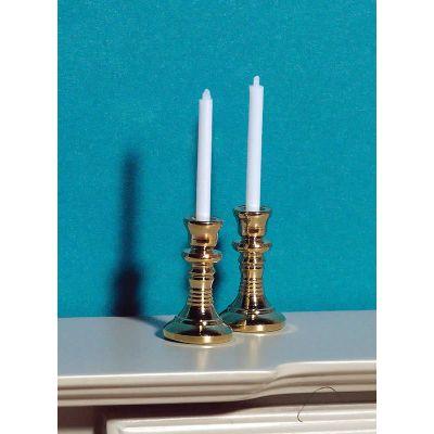 Candlesticks & Candles, 2 pcs