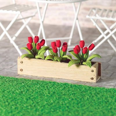 Window Box Red Tulips, width