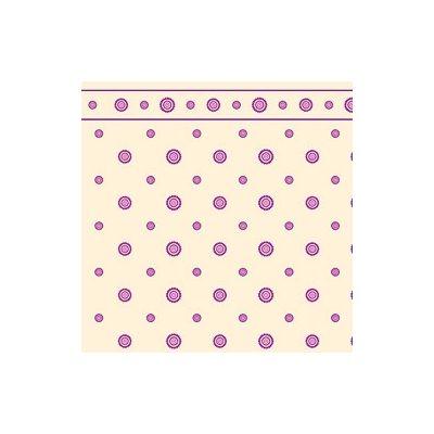 Plum & Cream Dahlia Wallpaper