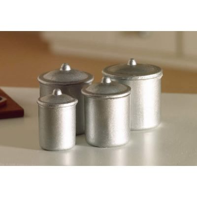 Four 'Chrome' Canisters
