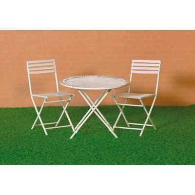 White Table & Two Chairs