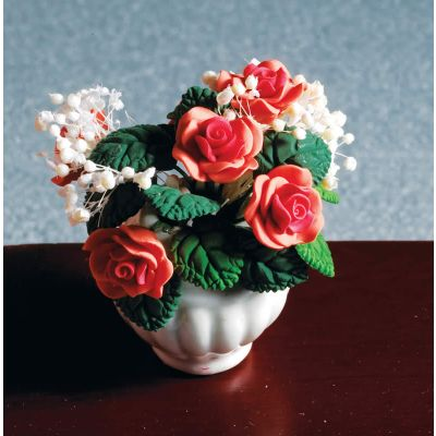 Peach Rose Arrangement in Vase