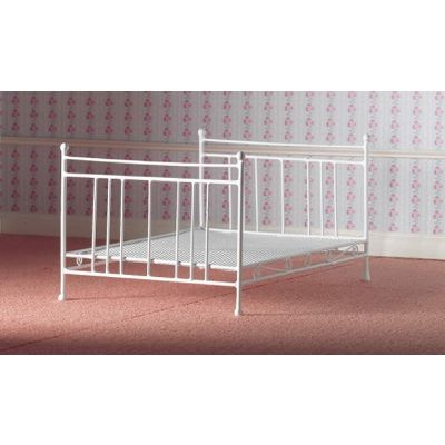 White Wire Double Bed