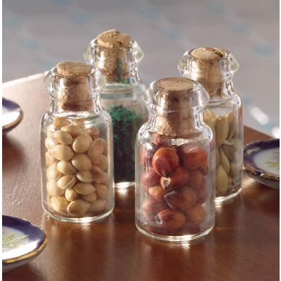 Herb Jars, 4 pcs