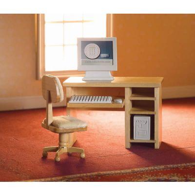 Computer Desk & Chair, 6 pcs (L)