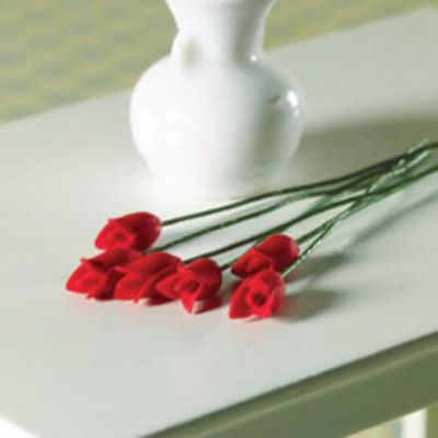 Red Tulips, 6 pcs